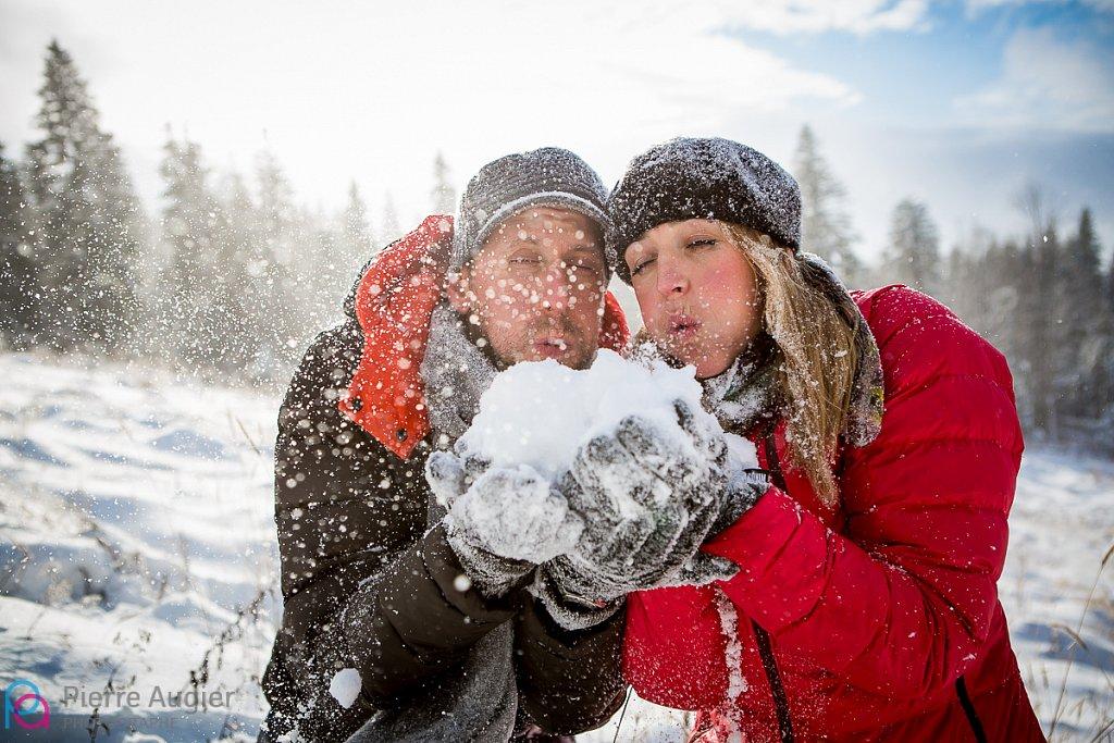 Save The Date dans la neige Savoyarde
