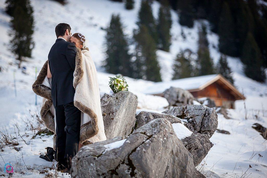 Mathilde & Jérémy: Un mariage à la montagne, à La Clusaz.